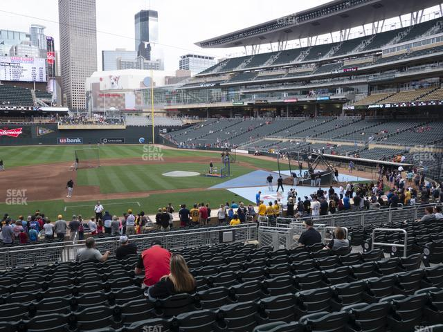 Target Field Section 120 view