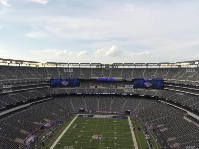 MetLife Stadium Section 325 view