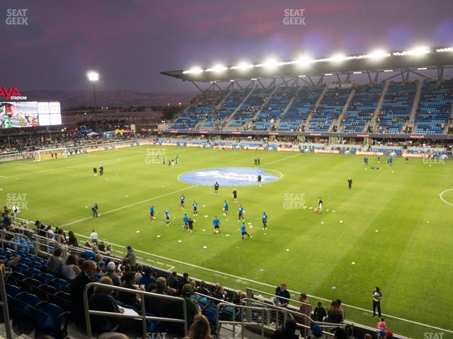 Earthquakes Stadium Section 110 view