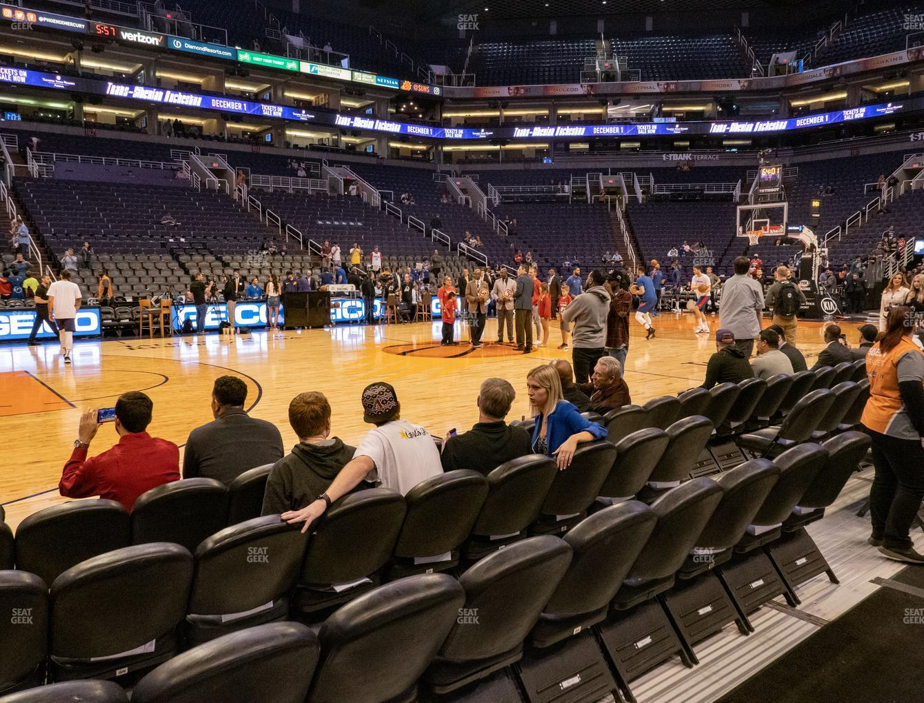 Phoenix Suns at Talking Stick Resort Arena Section 115 F View