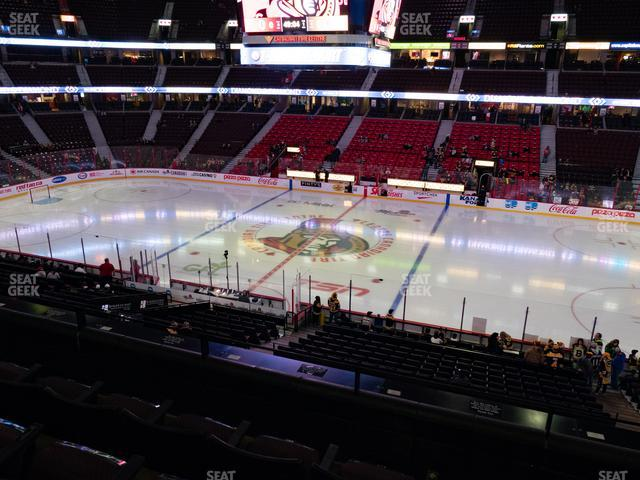 Canadian Tire Centre Section 221 view