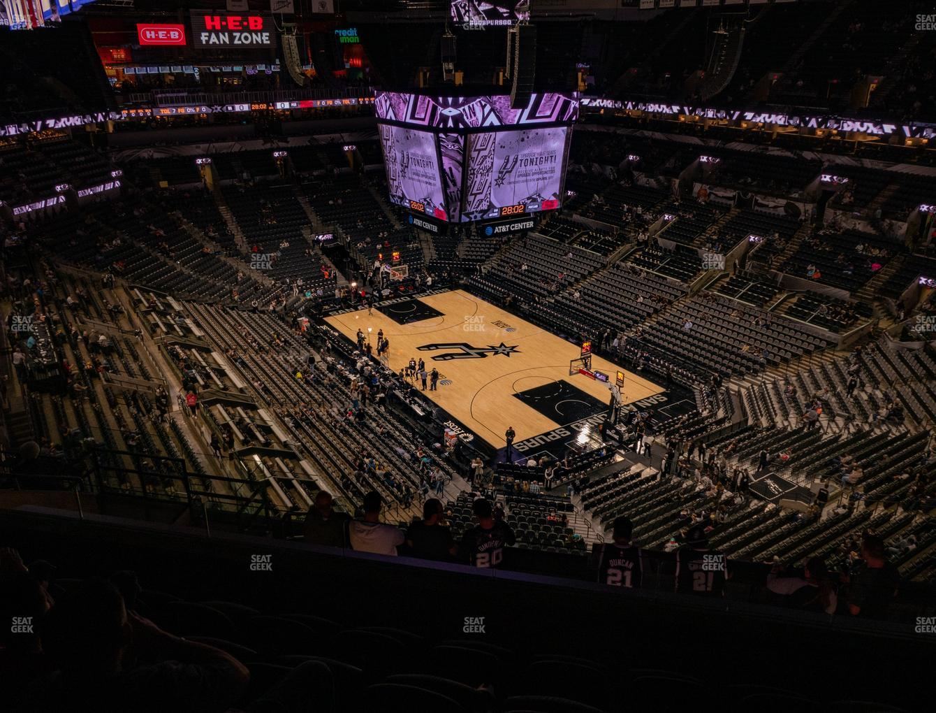 San Antonio Spurs at AT&T Center Section 203 View