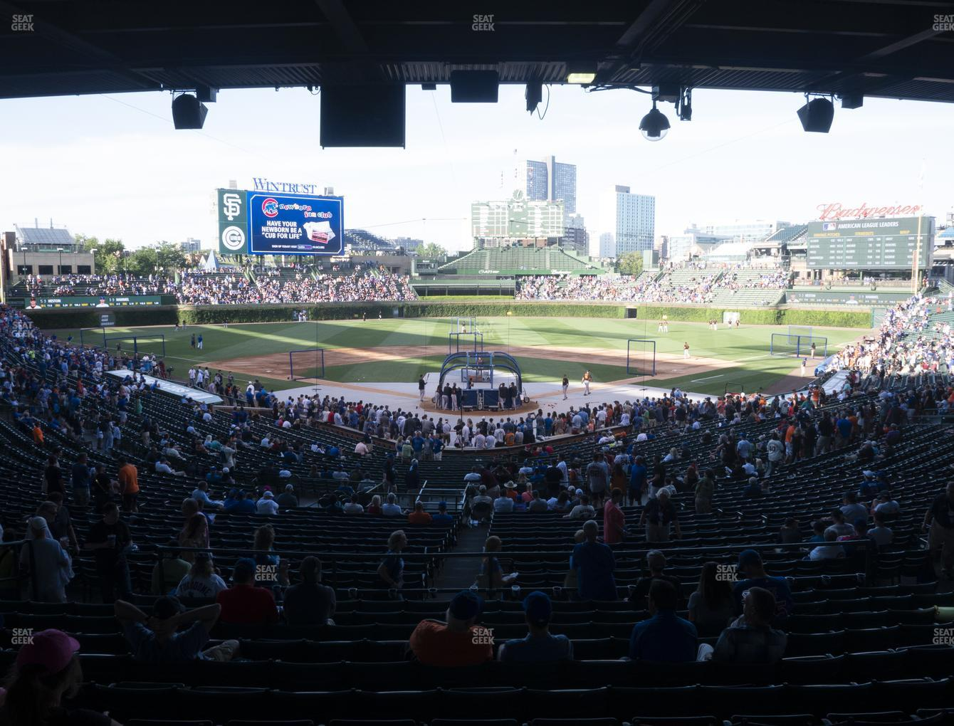 Chicago Cubs at Wrigley Field Section 217 View