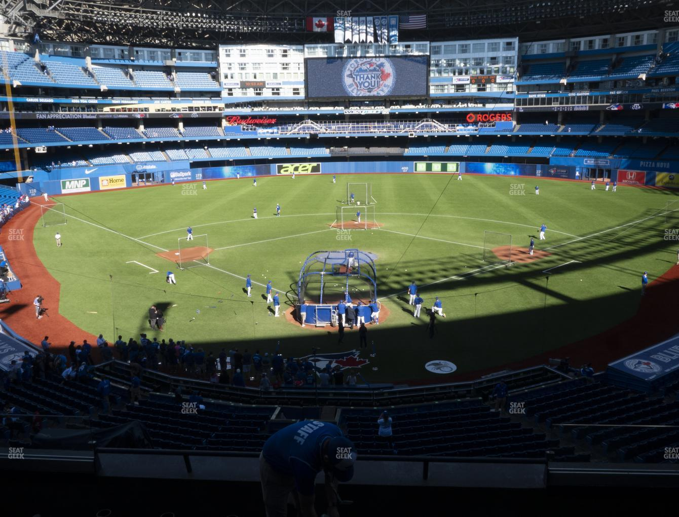 Toronto Blue Jays at Rogers Centre TD Comfort Club 224 AR View