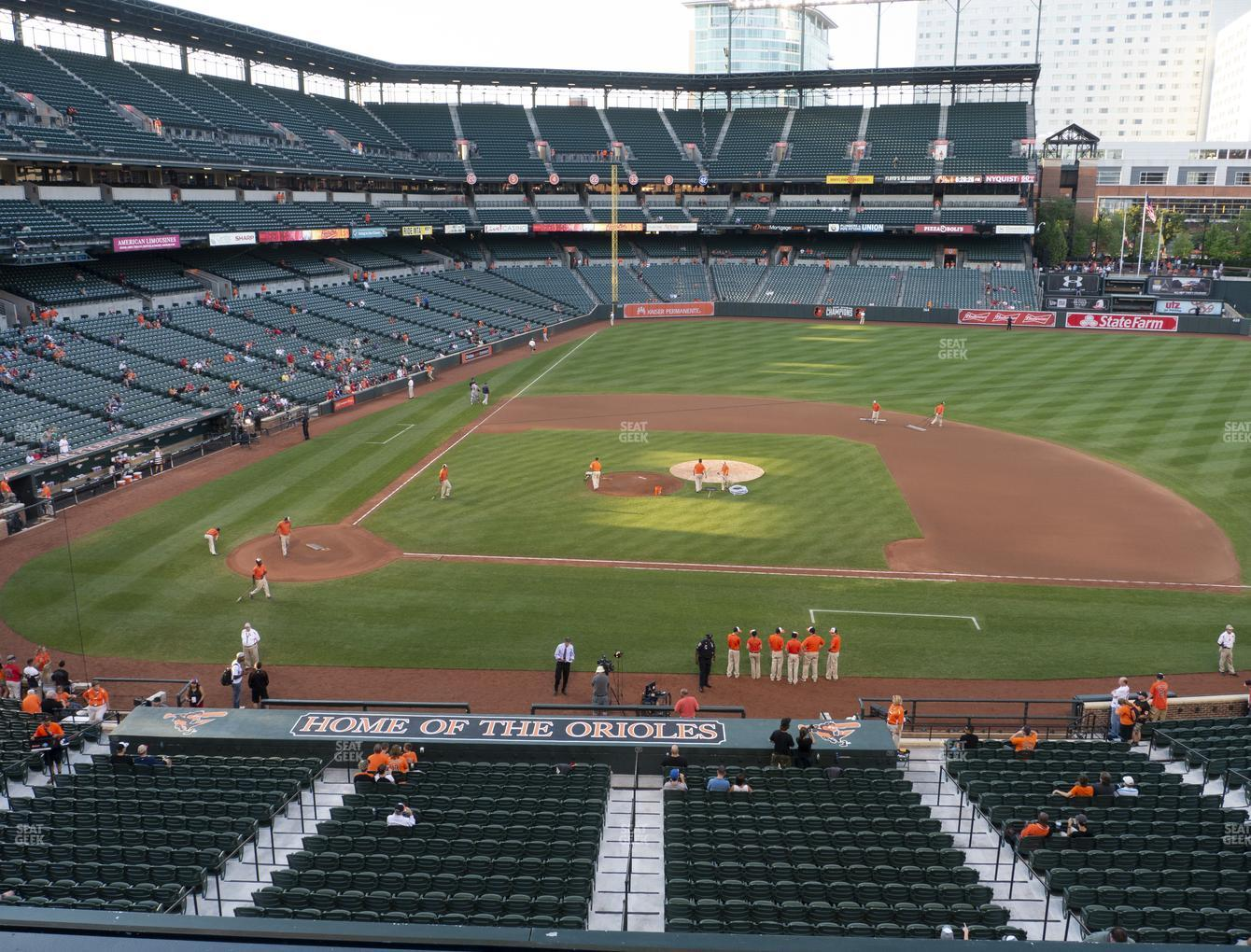 Baltimore Orioles at Oriole Park at Camden Yards Section 222 View