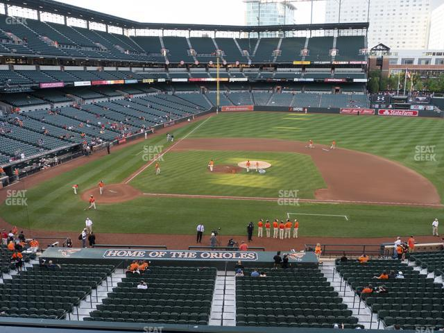 Oriole Park at Camden Yards Section 222 view
