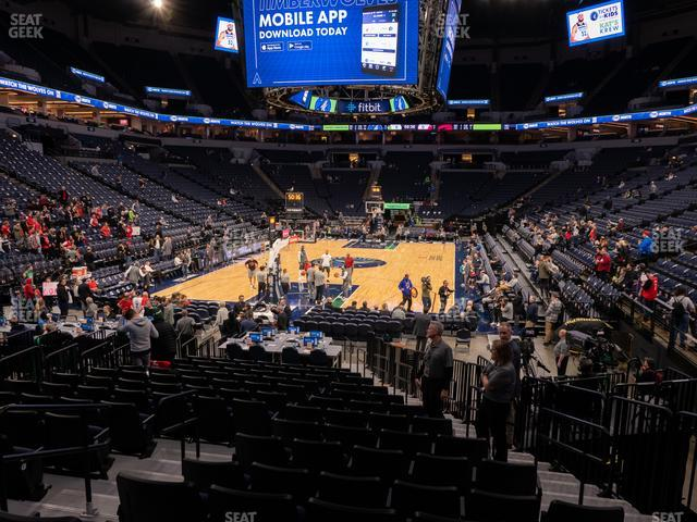 Target Center Section 120 view