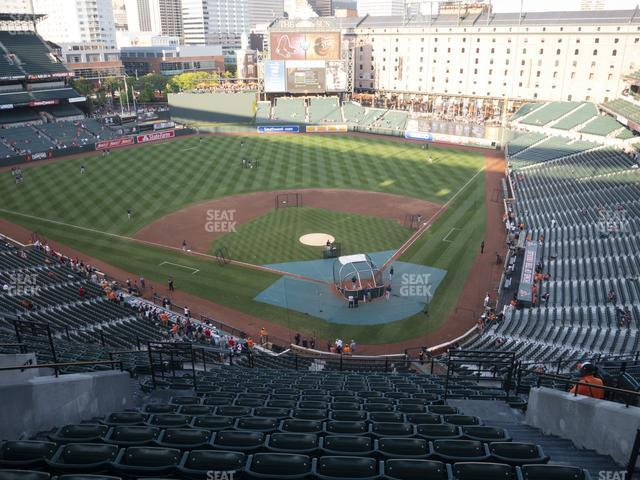 Oriole Park at Camden Yards Section 342 view