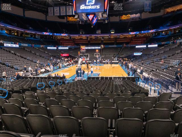 Chesapeake Energy Arena Section 110 view