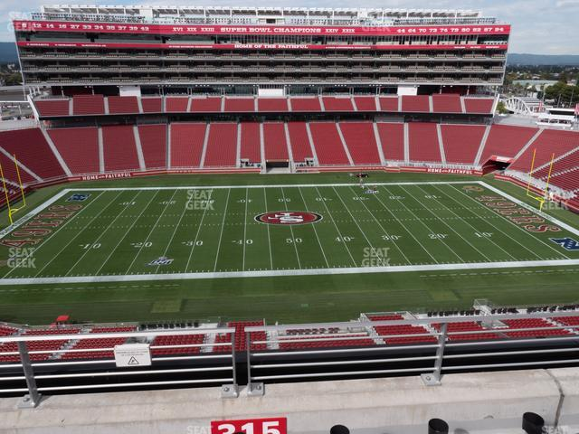 Levi's Stadium Section 315 view