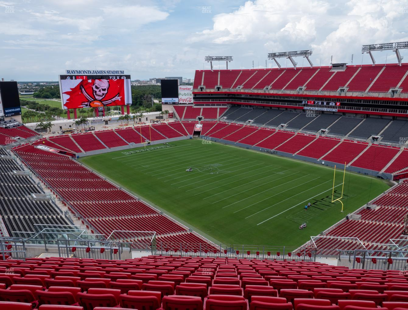 Tampa Bay Buccaneers at Raymond James Stadium Section 343 View