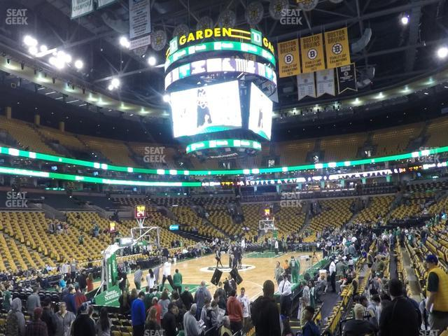TD Garden Section Loge 5 view