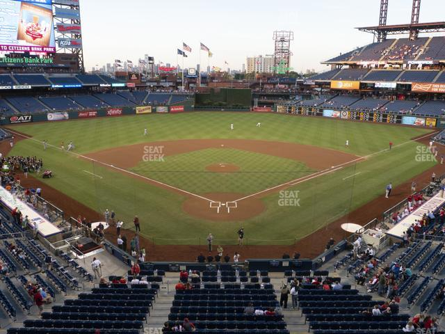 Citizens Bank Park Section 222 view