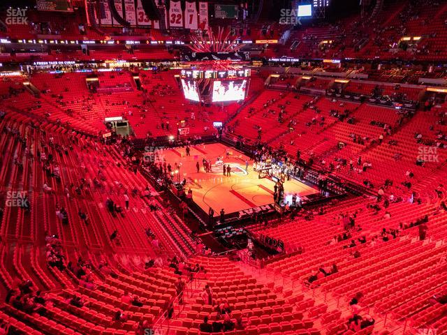American Airlines Arena Section 319 view