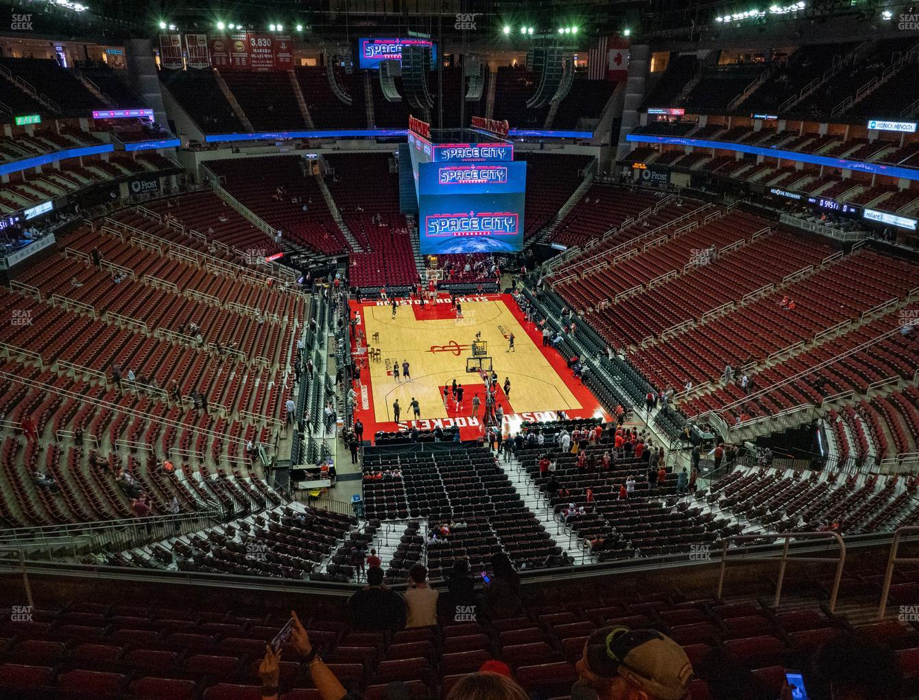 Houston Rockets at Toyota Center Section 419 View