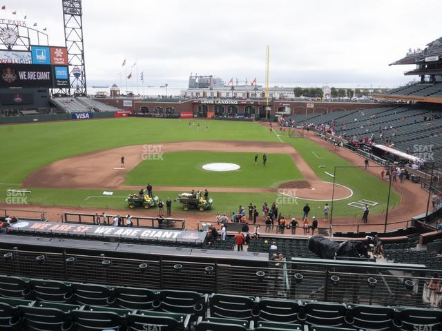 Oracle Park Section 221 view