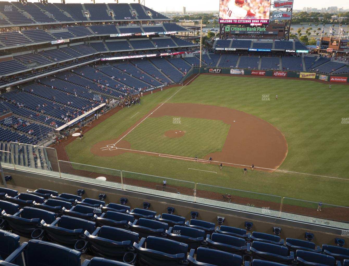 Philadelphia Phillies at Citizens Bank Park Section 414 View