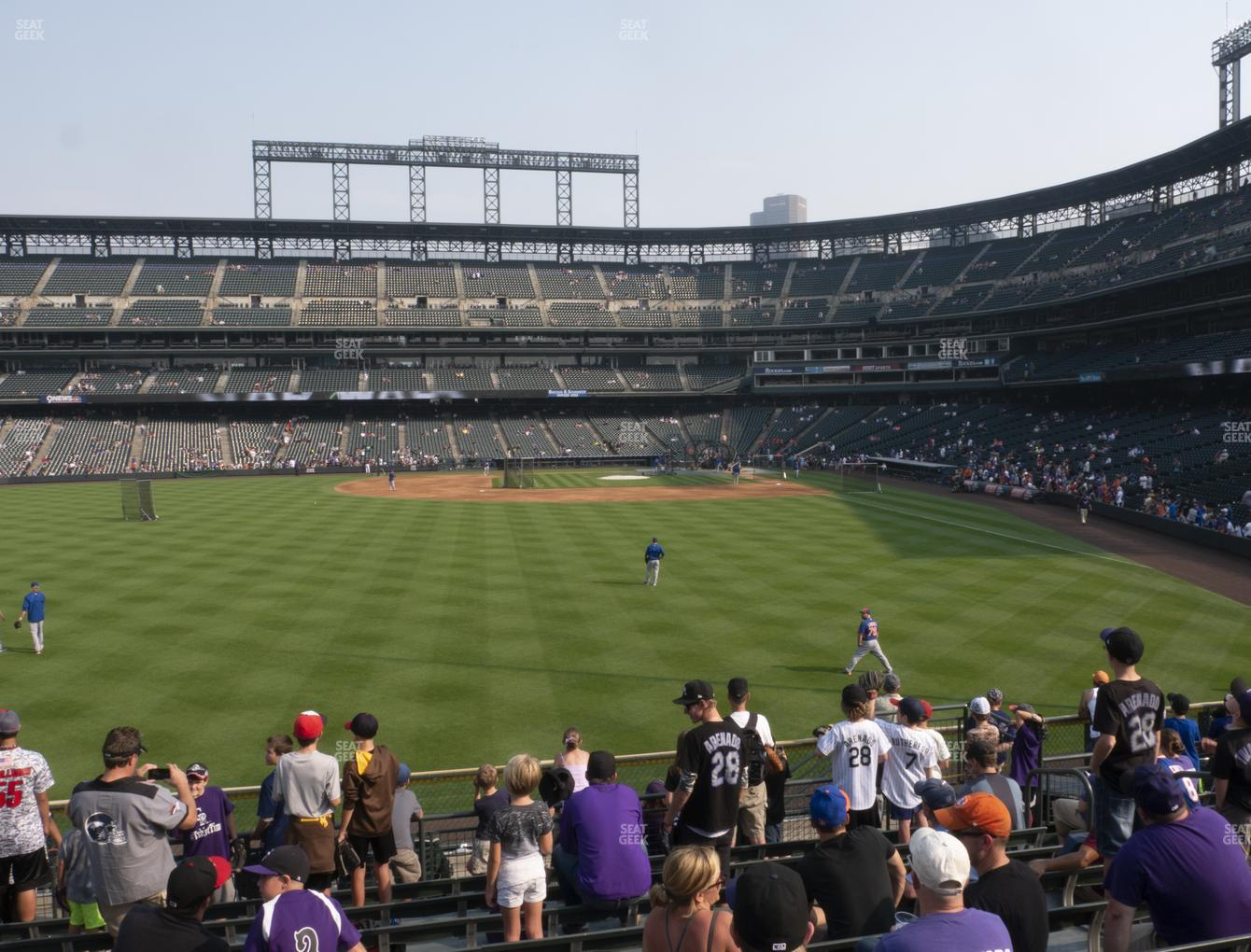 Colorado Rockies at Coors Field Section 153 View