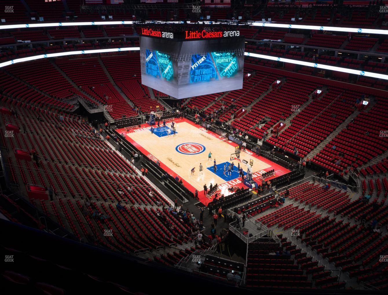 Detroit Pistons at Little Caesars Arena Section 208 View