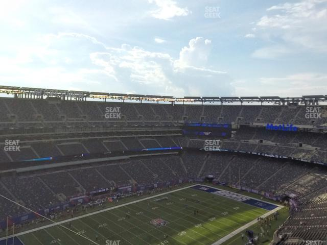 MetLife Stadium Section 319 view
