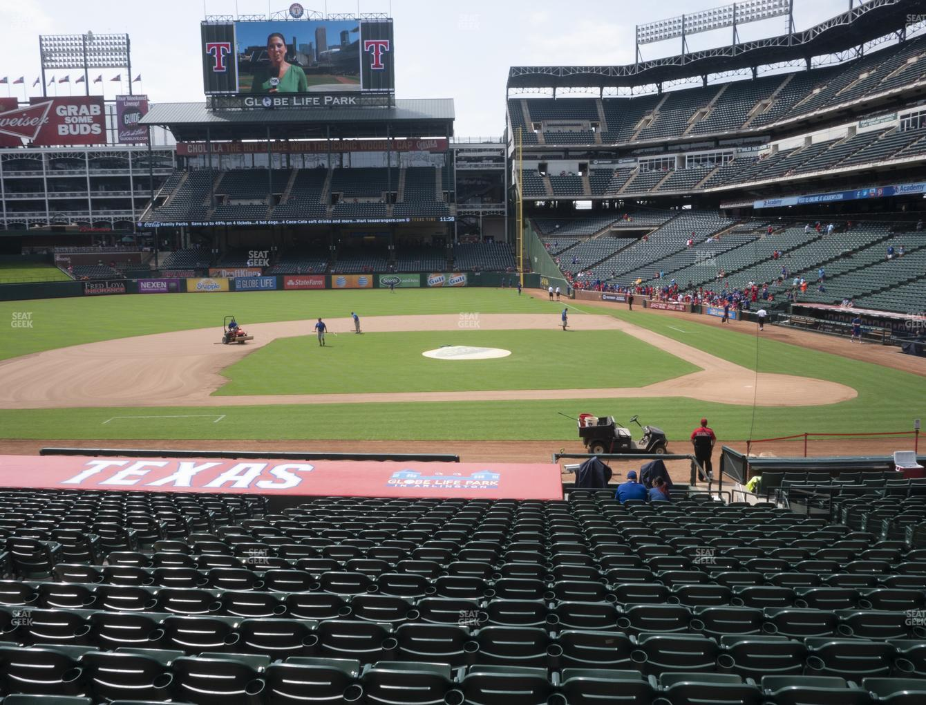 Texas Rangers at Globe Life Park Section 20 View