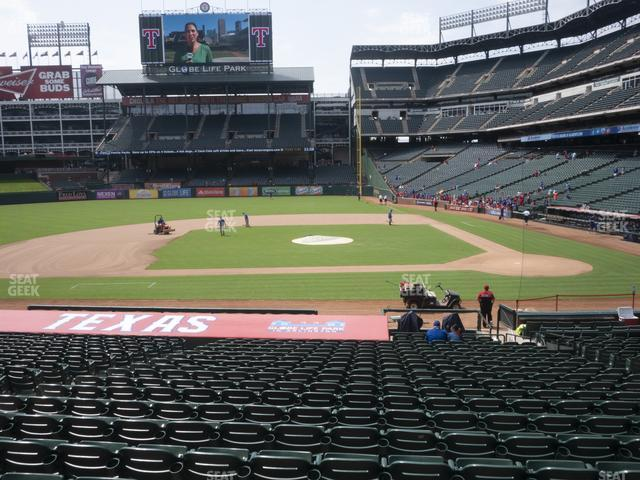Globe Life Park Section 20 view