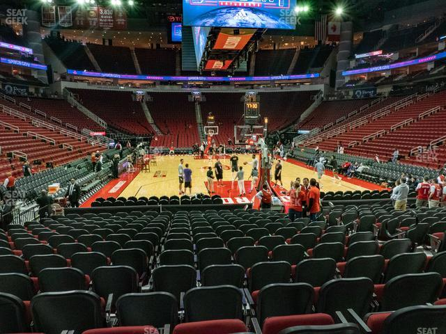 Toyota Center Section 114 view