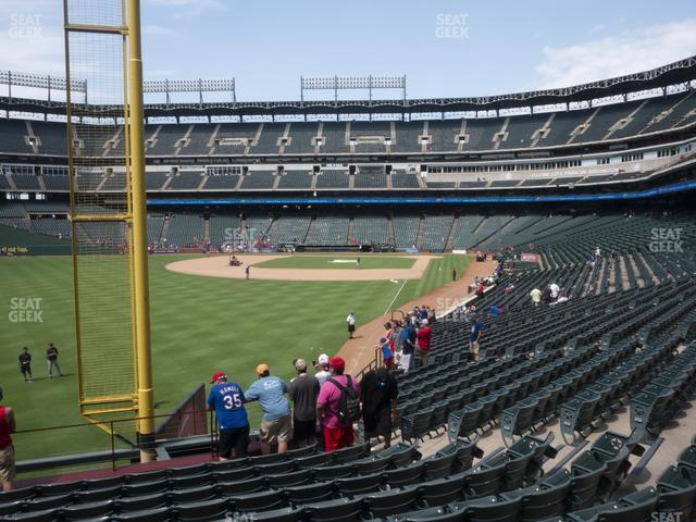 Globe Life Park Section 9 view
