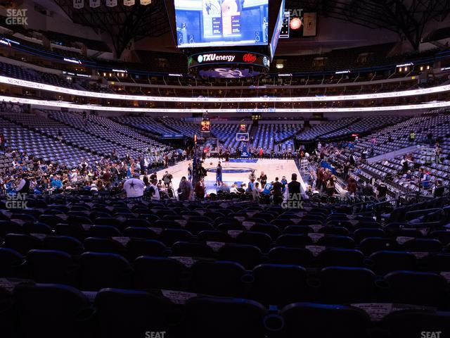 American Airlines Center Section 124 view