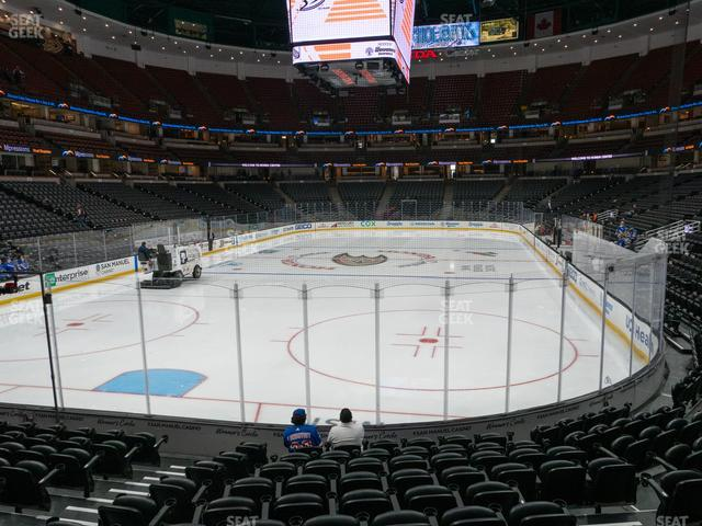 Honda Center Section 214 view