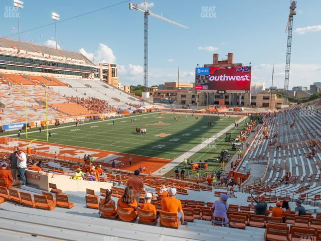 Darrell K Royal - Texas Memorial Stadium Section 14 view