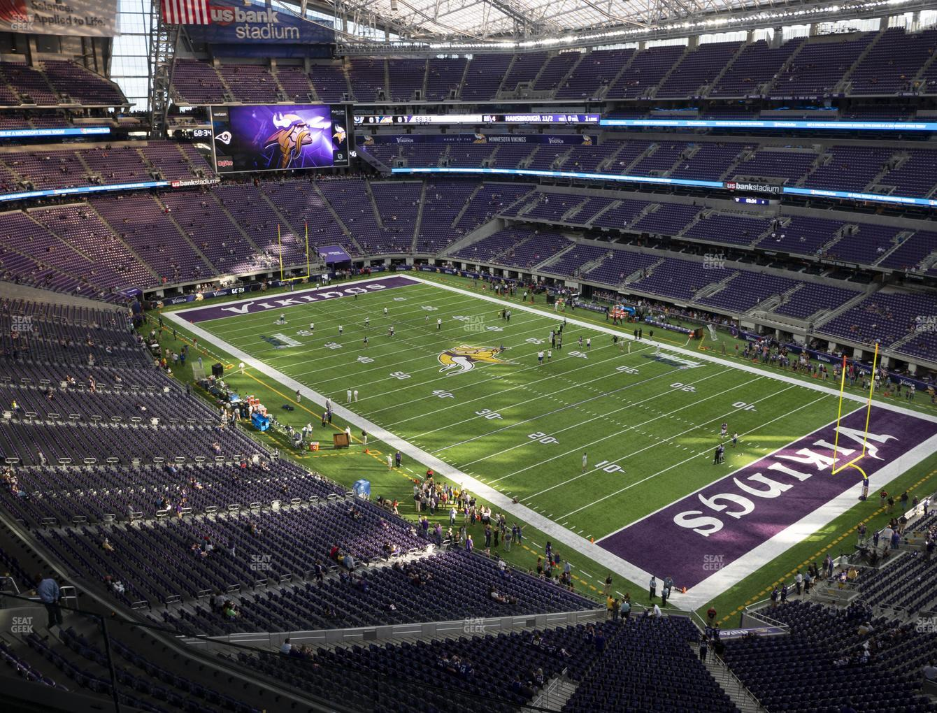 Minnesota Vikings at U.S. Bank Stadium Section 305 View