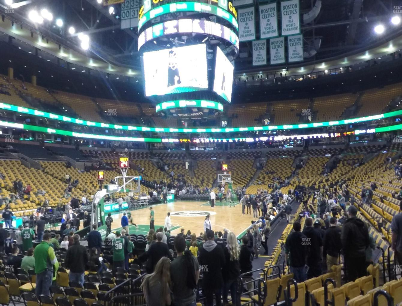 Boston Bruins at TD Garden Section Loge 16 View