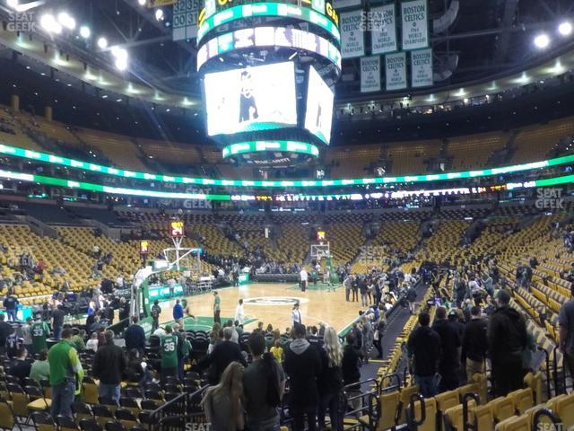 TD Garden Section Loge 16 view