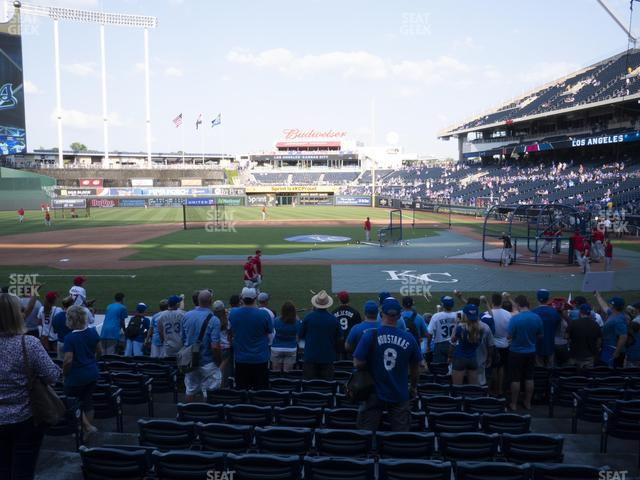 Kauffman Stadium Section 122 view