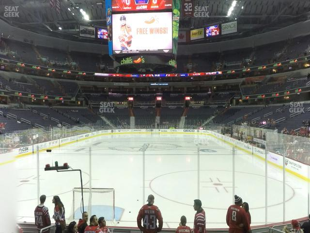 Capital One Arena Section 117 view