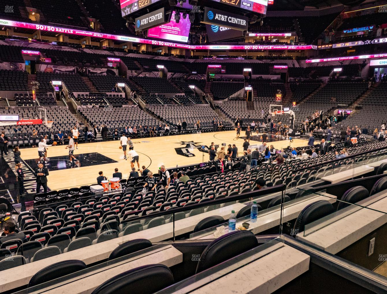 San Antonio Spurs at AT&T Center Box 10 A View