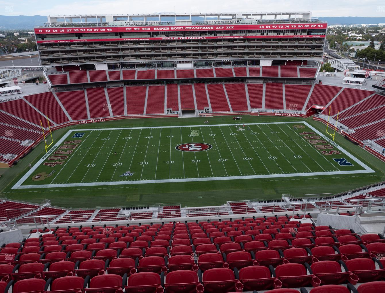 San Francisco 49ers at Levi's Stadium Section 412 View
