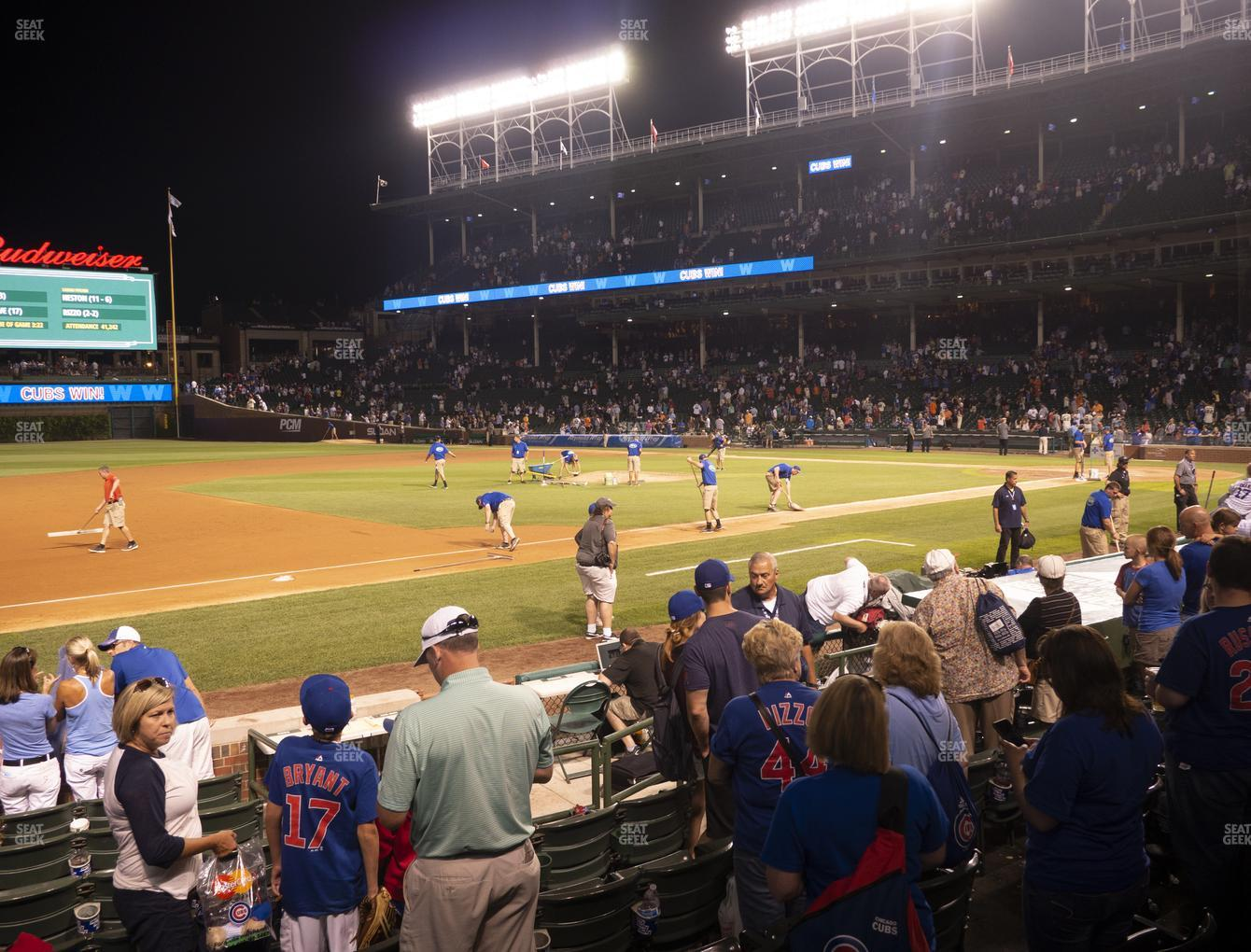 Chicago Cubs at Wrigley Field Club Box Infield 10 View