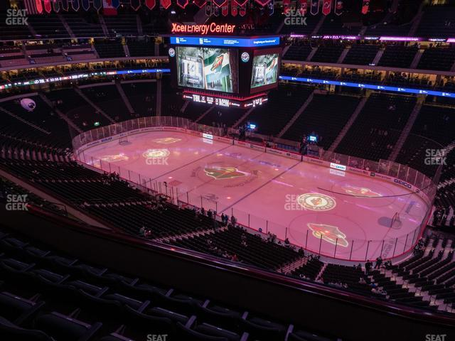 Xcel Energy Center Section 201 view