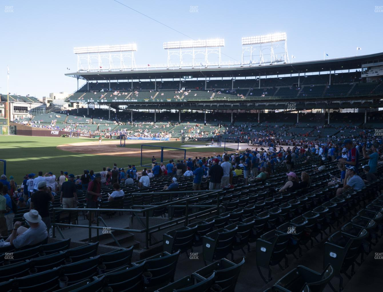Chicago Cubs at Wrigley Field Section 105 View