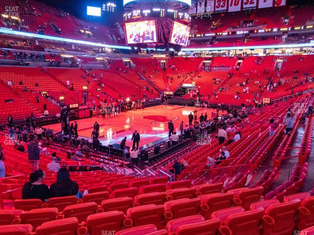 American Airlines Arena Section 110 view