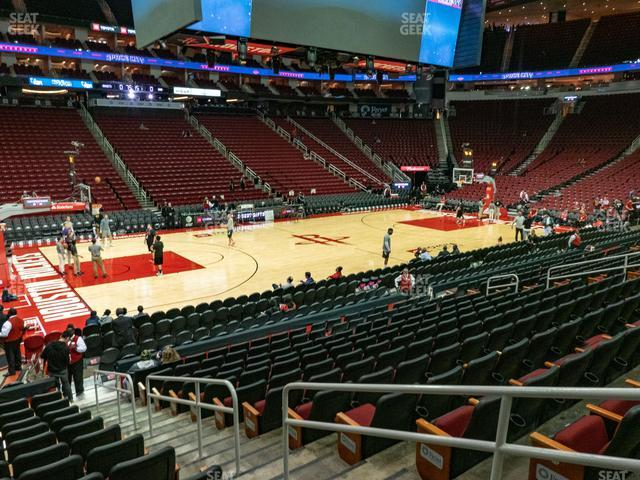 Toyota Center Section 109 view