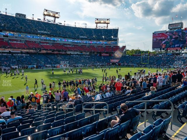 Nissan Stadium Section 116 view