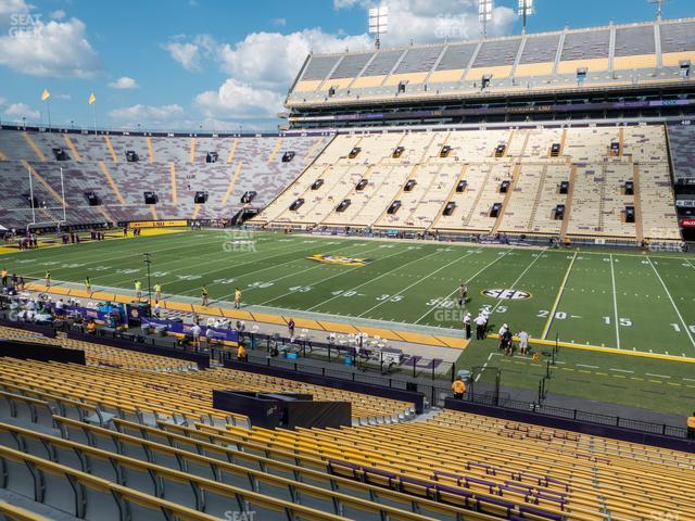 LSU Tiger Stadium Section 101 view