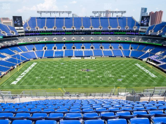 M&T Bank Stadium Section 527 view