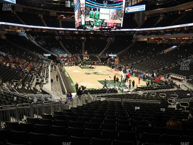 Fiserv Forum Section 102 view