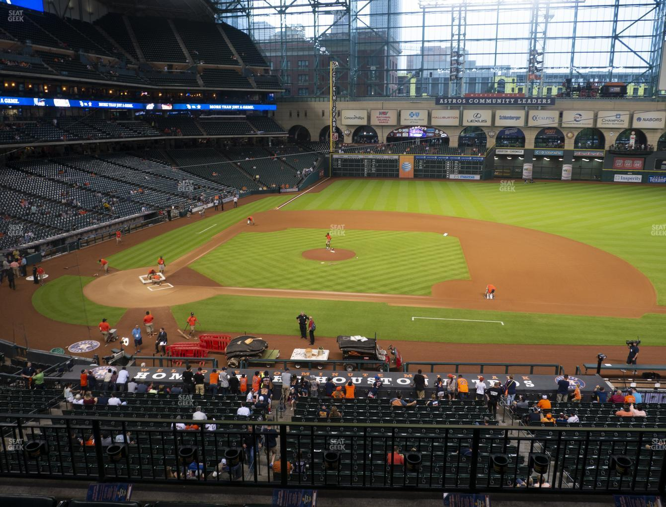 Houston Astros at Minute Maid Park Section 225 View