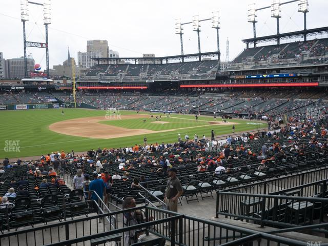 Comerica Park Section 138 view