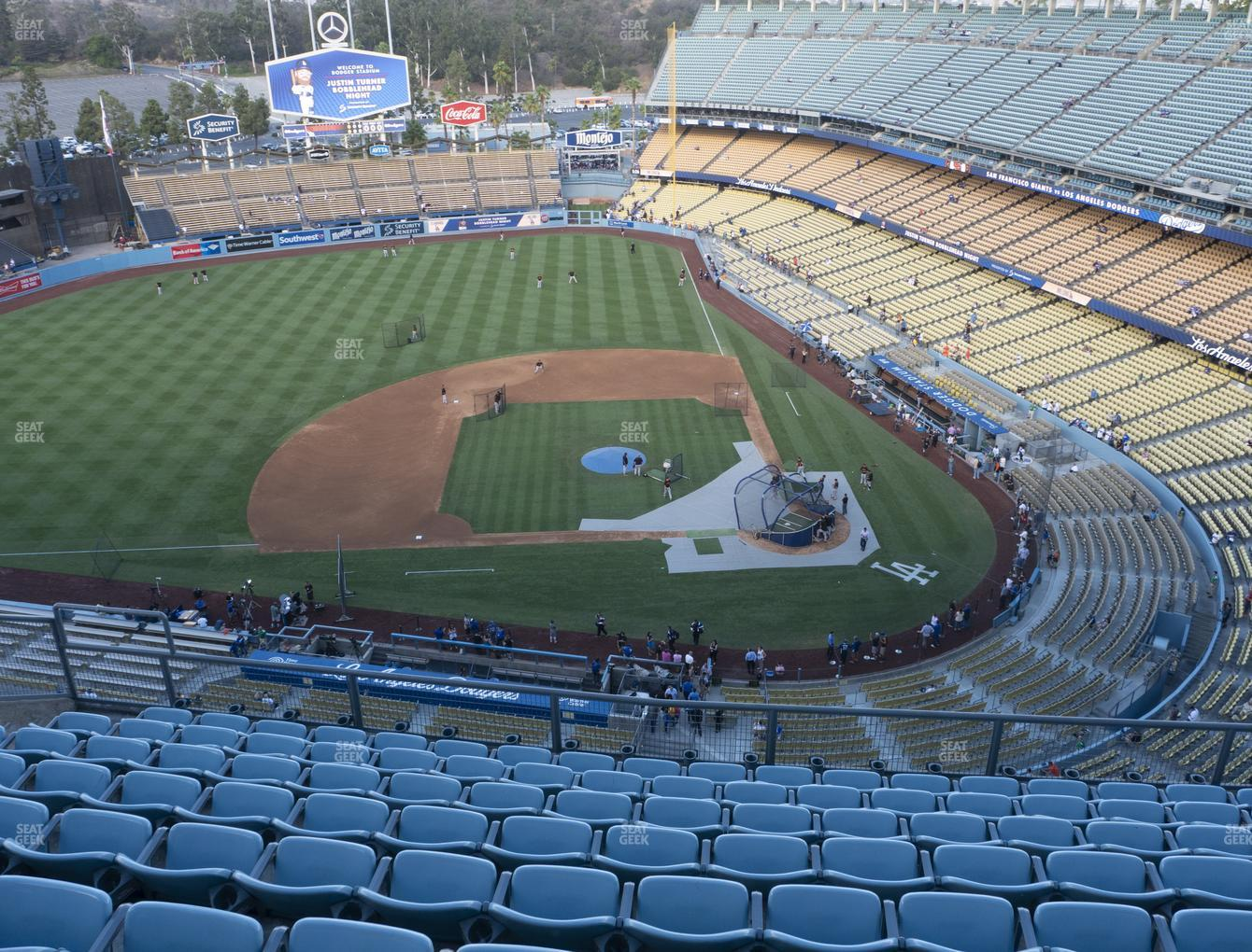 Los Angeles Dodgers at Dodger Stadium Section Top Deck 13 View
